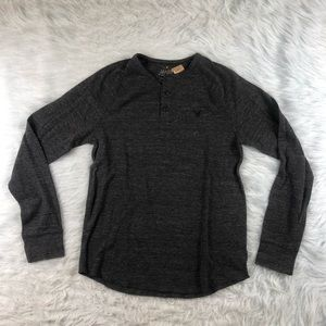 American Eagle Heritage Thermal Henley Shirt M